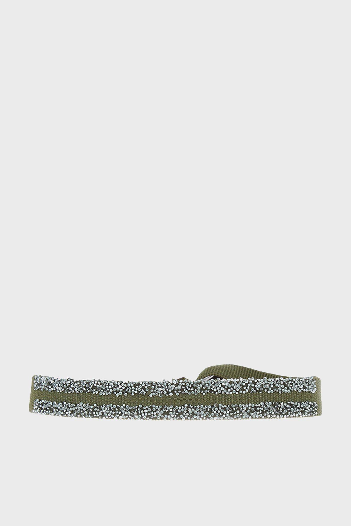 Женский зеленый браслет двойной fabric 9 1