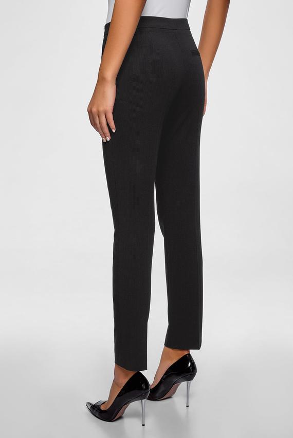Женские черные брюки в полоску