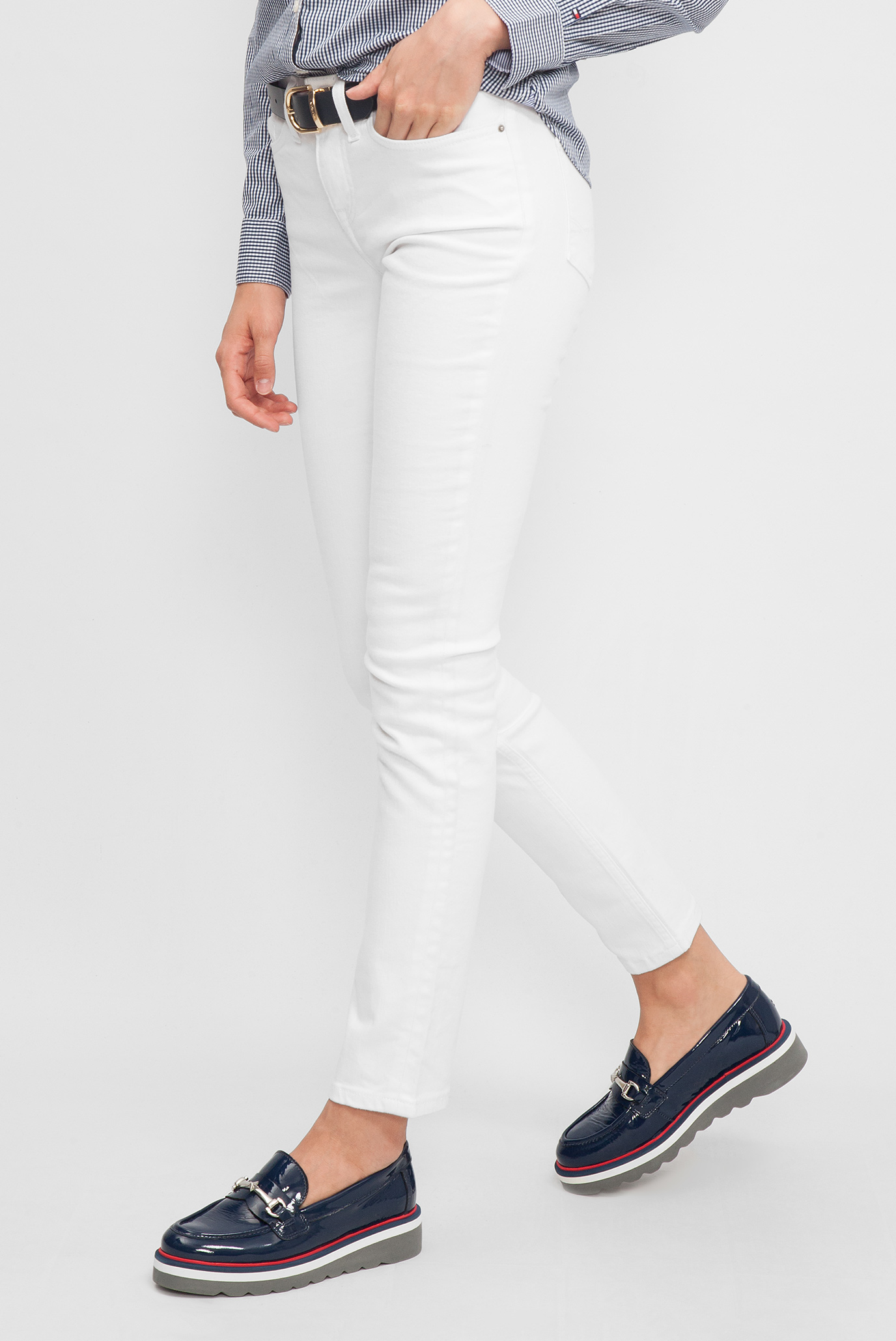 cba7a1a94d0 Купить Женские белые джинсы Tommy Hilfiger Tommy Hilfiger WW0WW11885 –  Киев