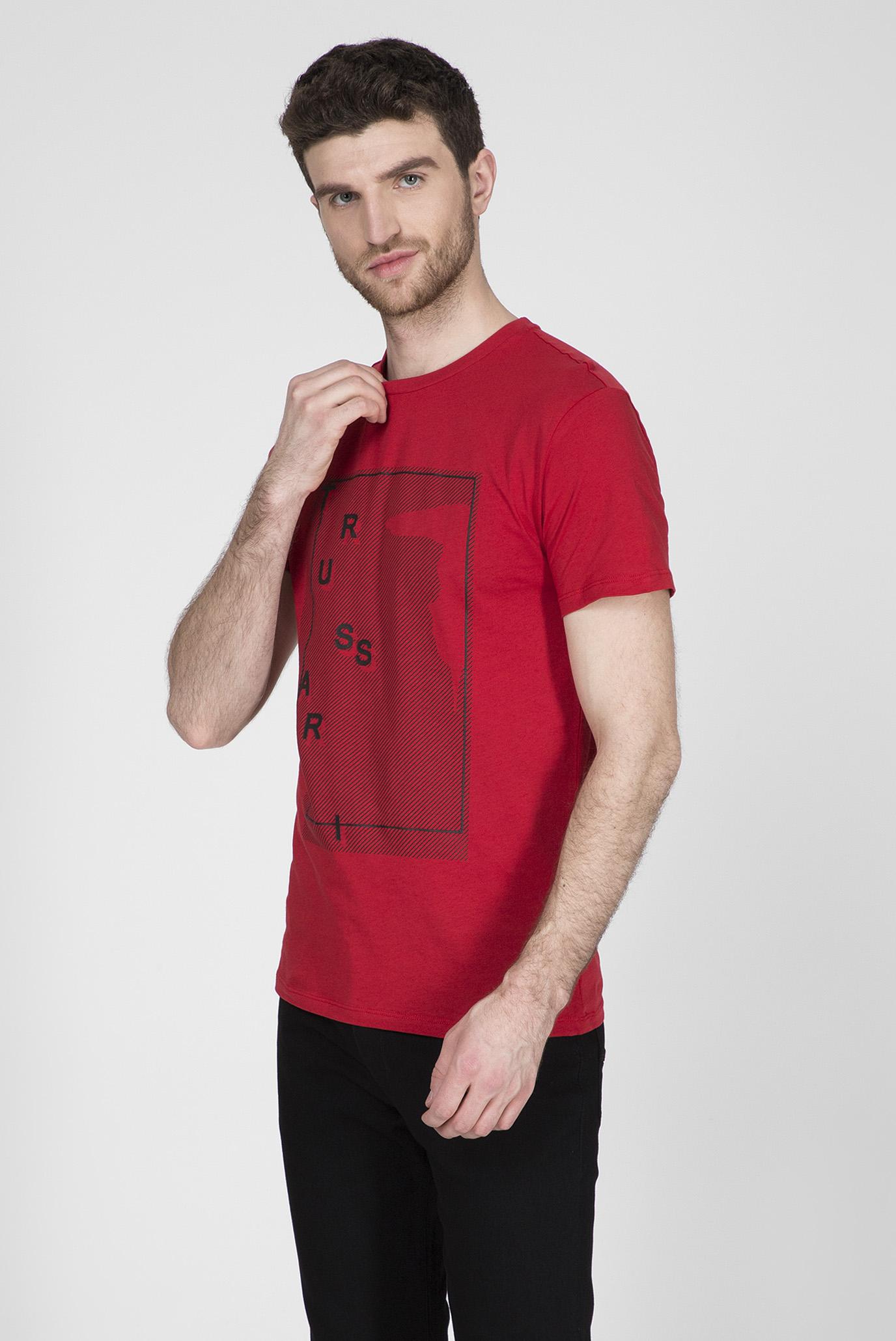 Мужская красная футболка REGULAR FIT Trussardi Jeans