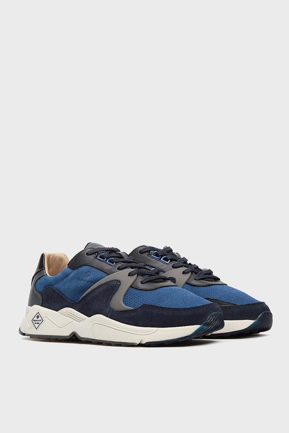 Мужские синие замшевые кроссовки PORTLAND