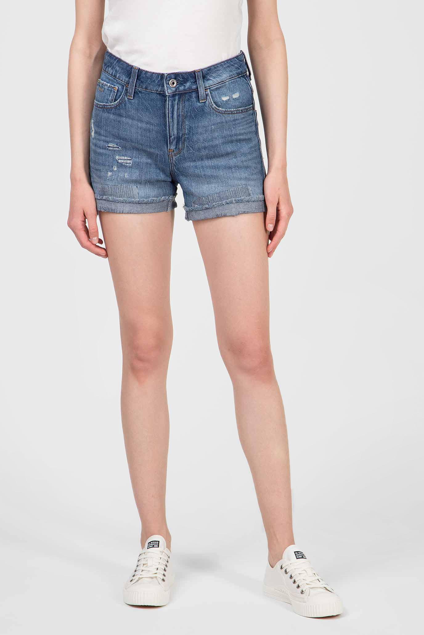Женские синие джинсовые шорты 3301 High Boyfriend 1