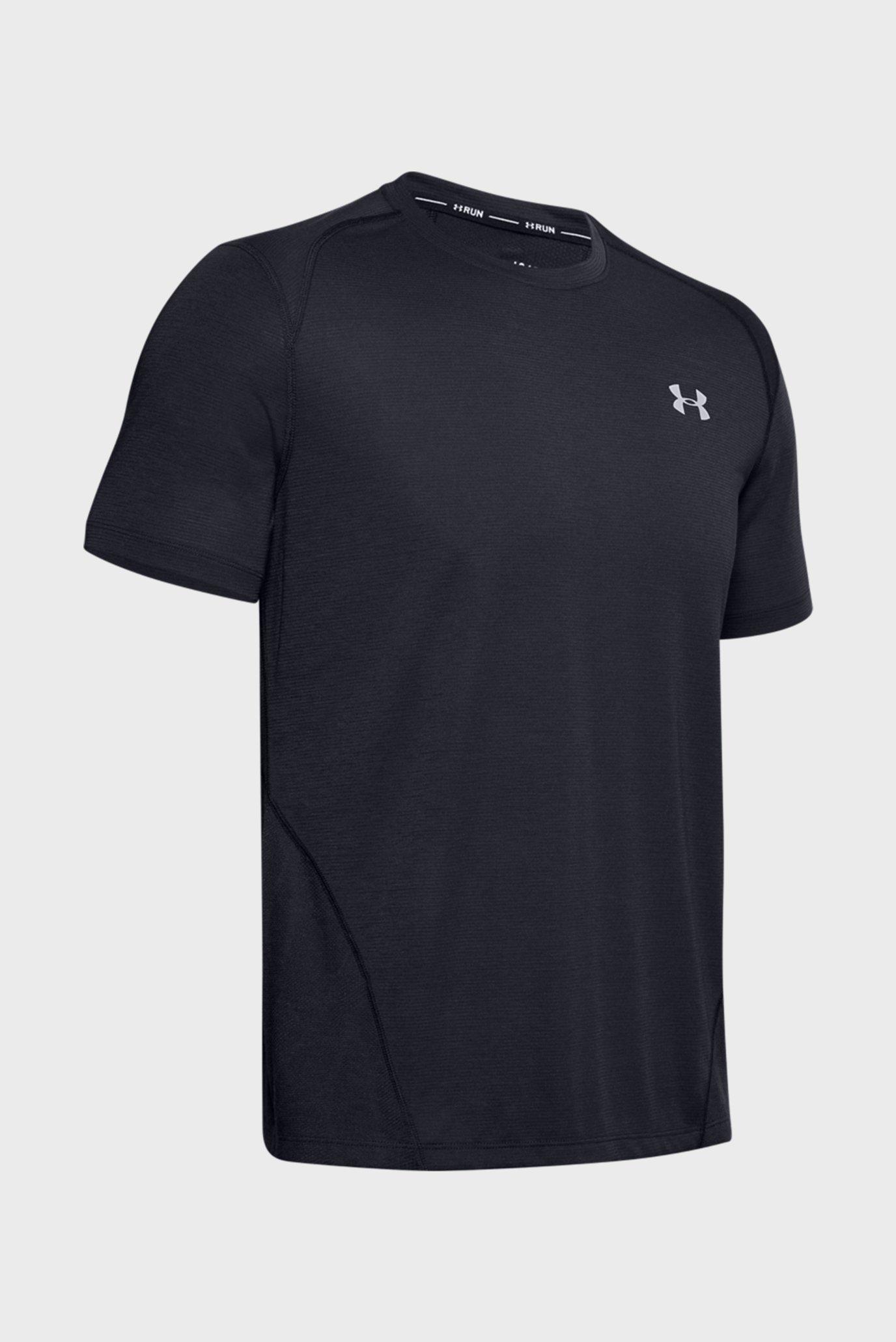Мужская черная футболка M UA Streaker 2.0 Shift Crew Under Armour