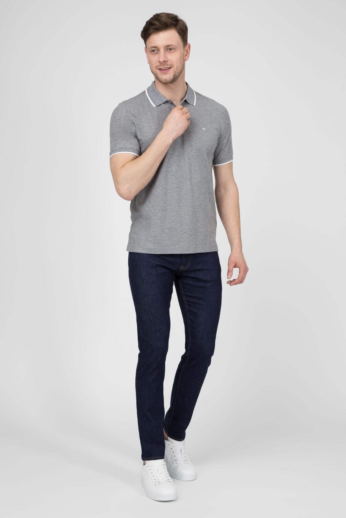 Мужское серое поло REFINED Calvin Klein