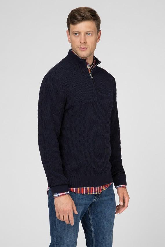 Мужской темно-синий свитер WHEAT TEXTURE
