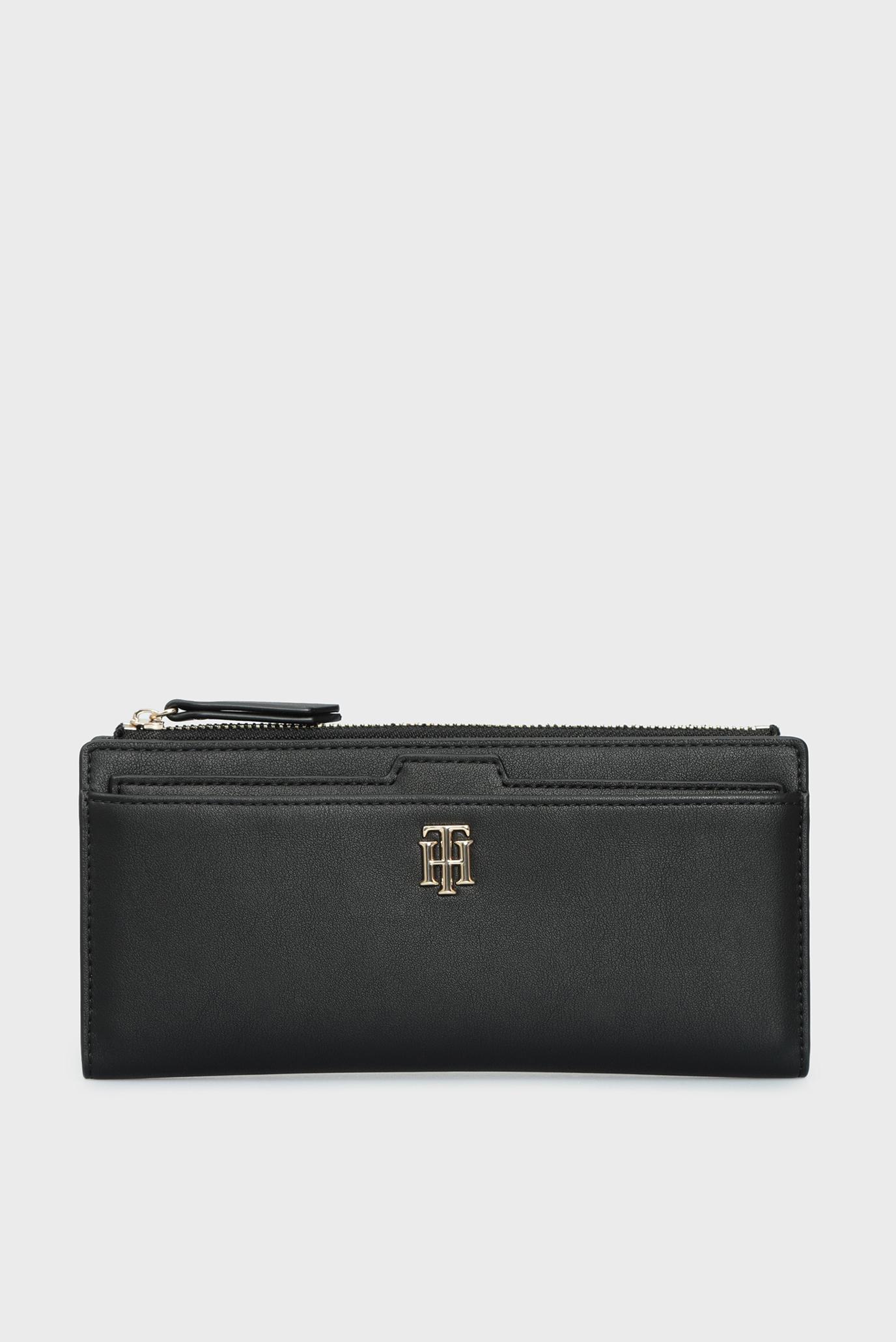 Жіночий чорний гаманець TH SEASONAL SLIM 1