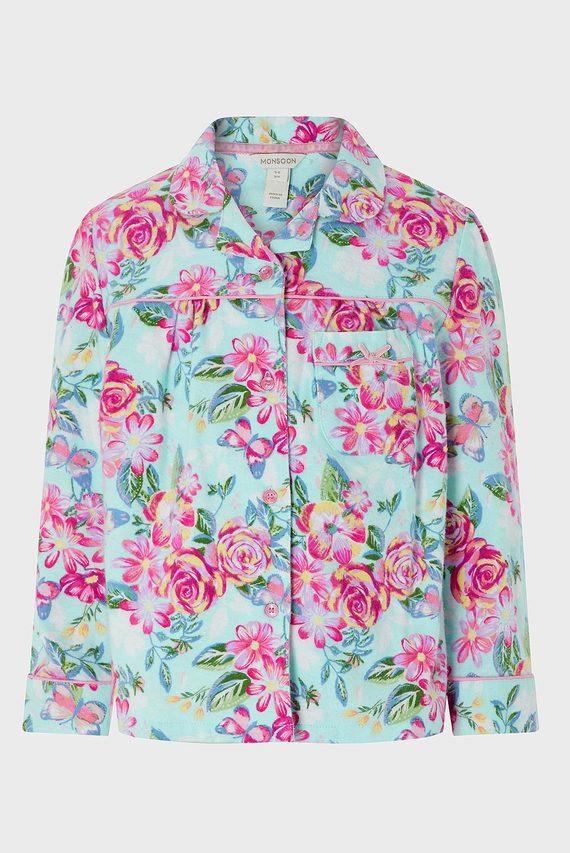 Детская голубая пижама (рубашка, брюки) BRIELLE FLANNEL PJ