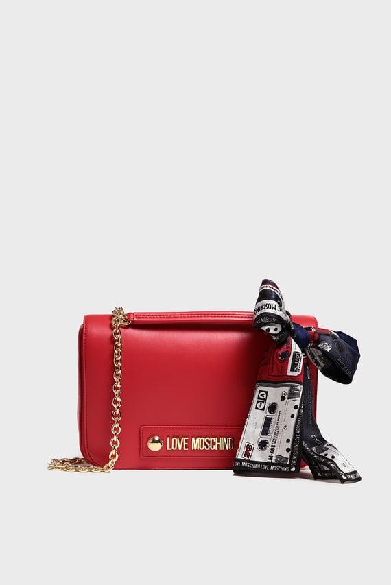 Женская красная сумка на плечо BORSA SMALL GRAIN