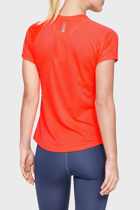 Женская оранжевая футболка UA Qualifier  Short Sleeve-ORG