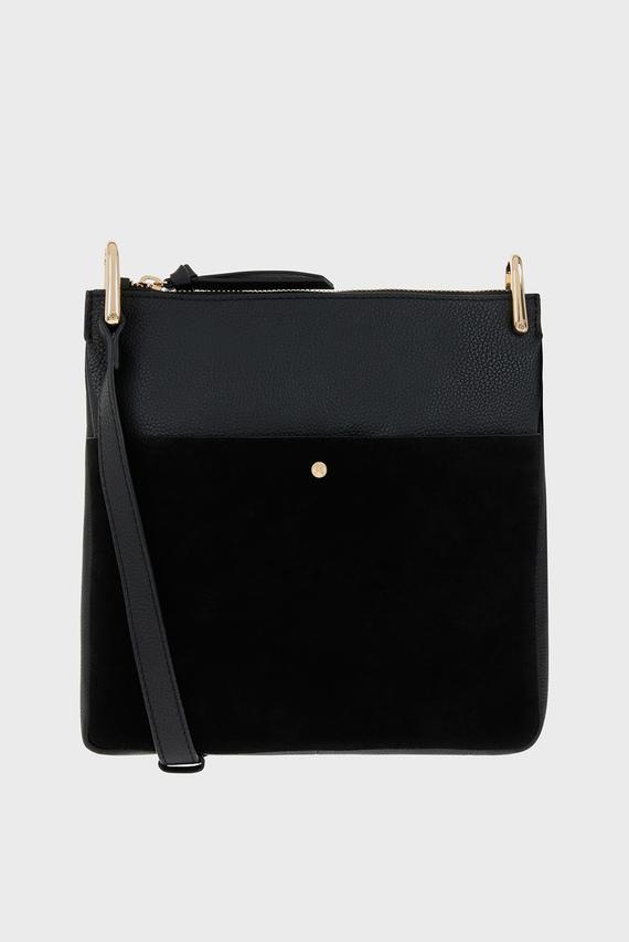 Женская черная сумка Leather Alessie Zip