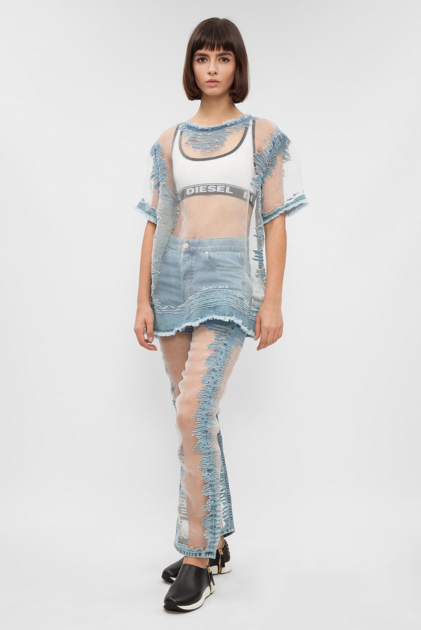 Купить Женская голубая полупрозрачная блуза Diesel Diesel 00SZFH 084LH – Киев, Украина. Цены в интернет магазине MD Fashion