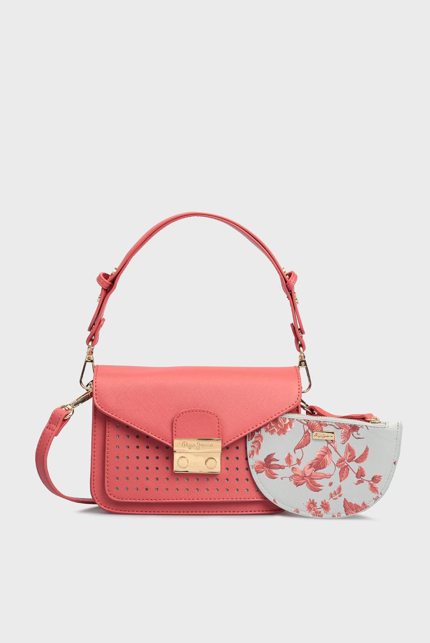Женская коралловая сумка на плечо KASSIA
