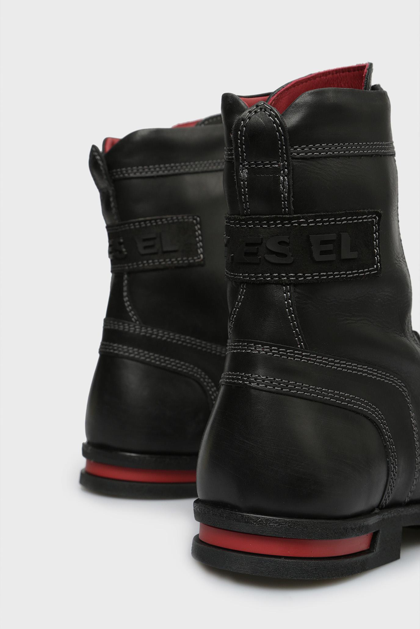 Купить Мужские черные кожаные ботинки D-OGTAG OXB LACE Diesel Diesel Y01815 PR080 – Киев, Украина. Цены в интернет магазине MD Fashion