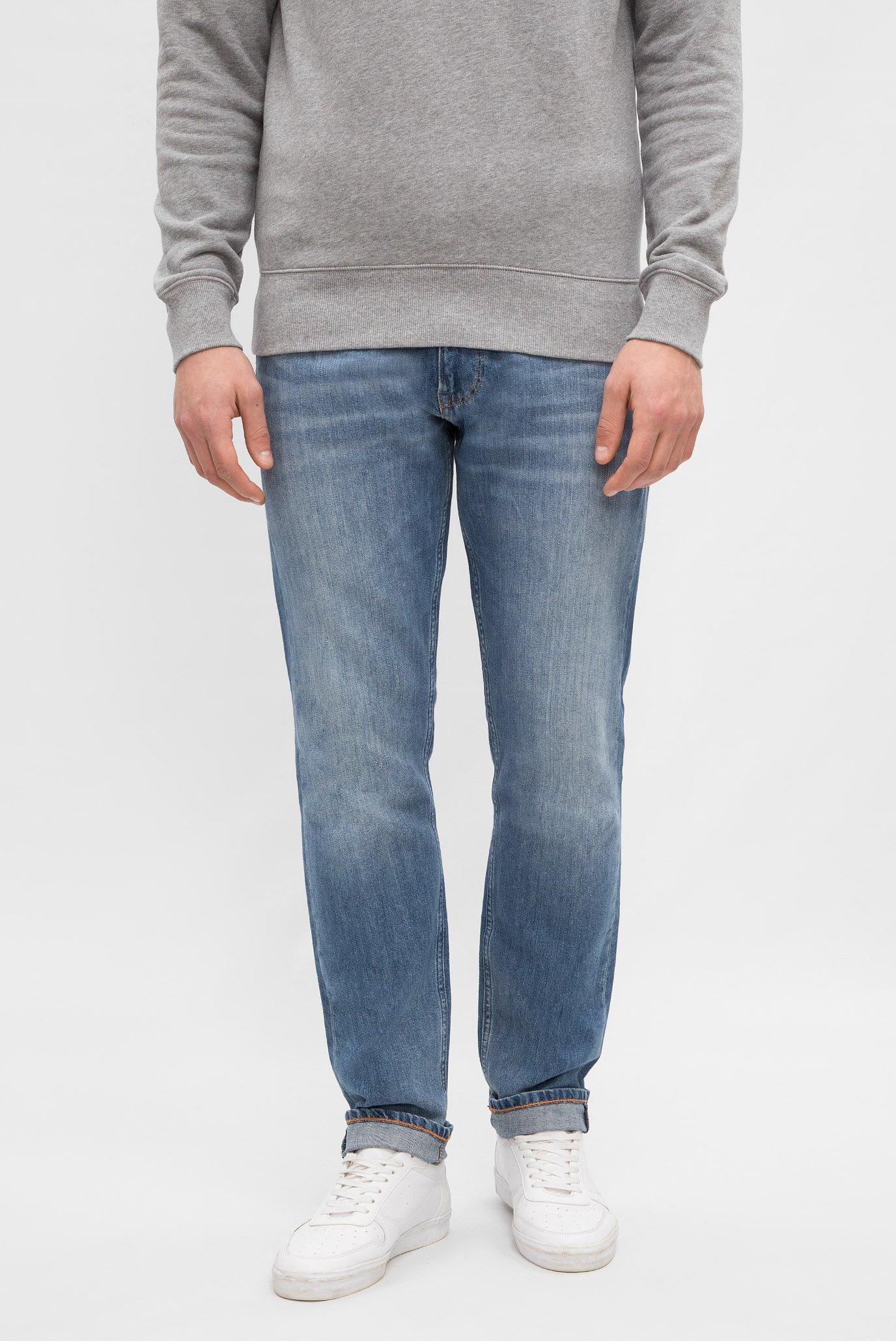 Купить Мужские голубые джинсы RELAXED LINEN DENIM JEANS Gant Gant 1002106 – Киев, Украина. Цены в интернет магазине MD Fashion