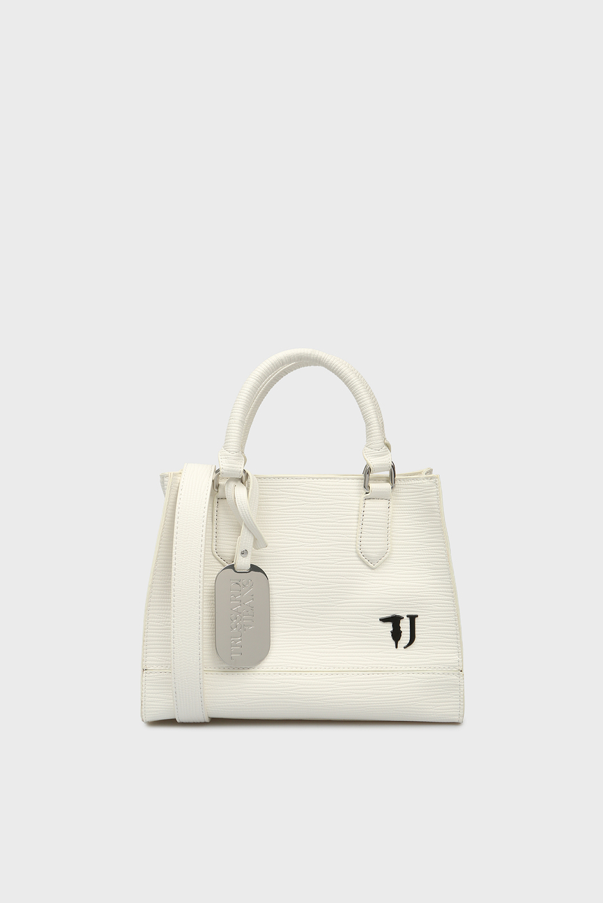 Женская белая сумка на плечо T-EASY
