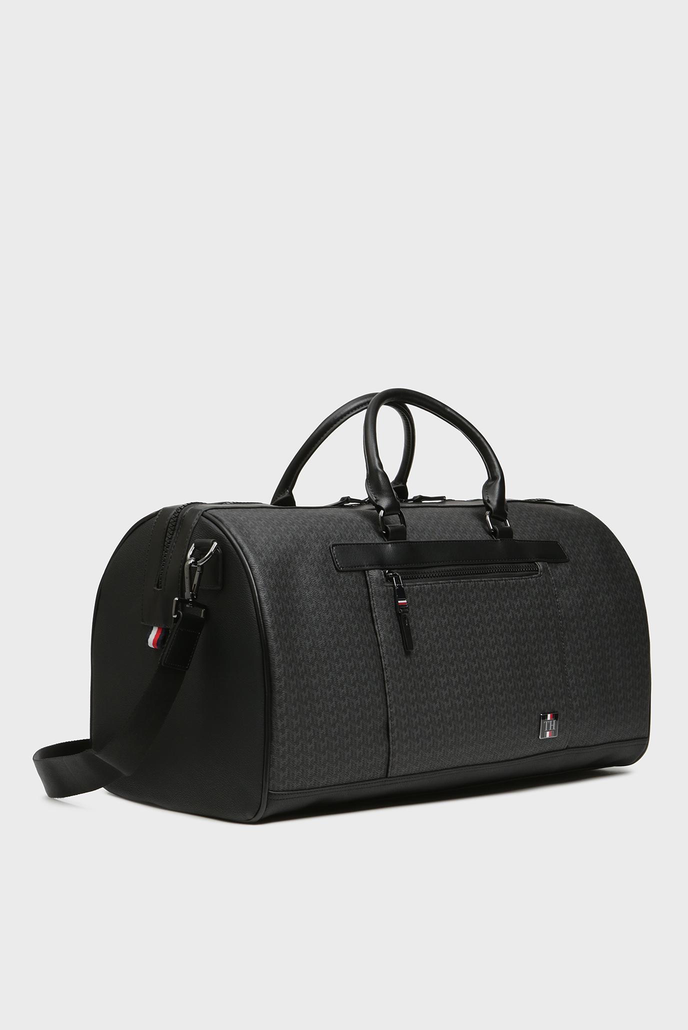 Мужская черная дорожная сумка COATED CANVAS MONOGRAM WEEKENDER Tommy Hilfiger