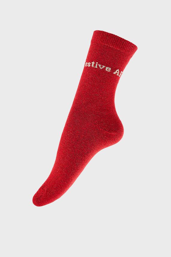 Женские красные носки CHRISTMAS SPARKLE