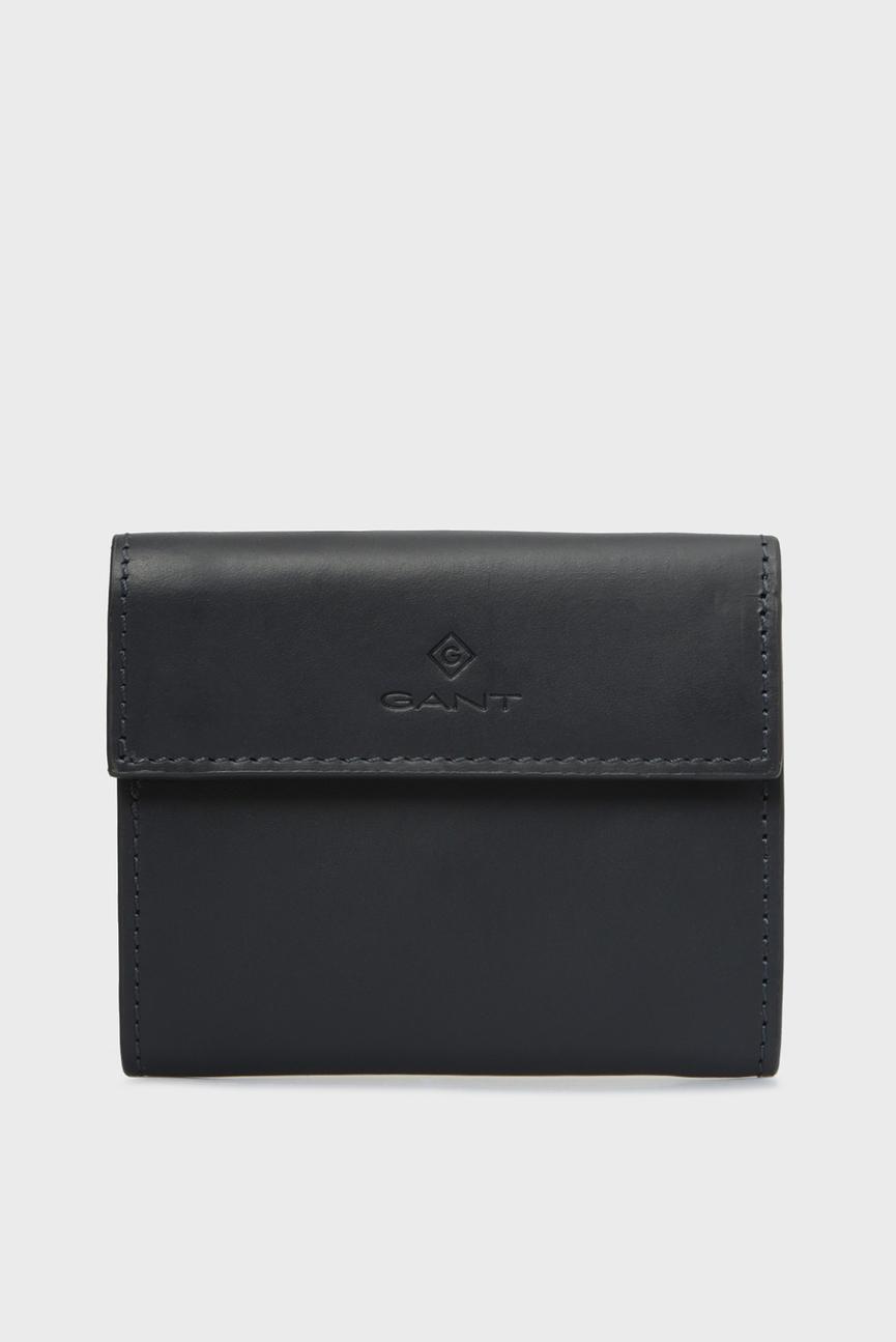 Женский темно-синий кожаный кошелек