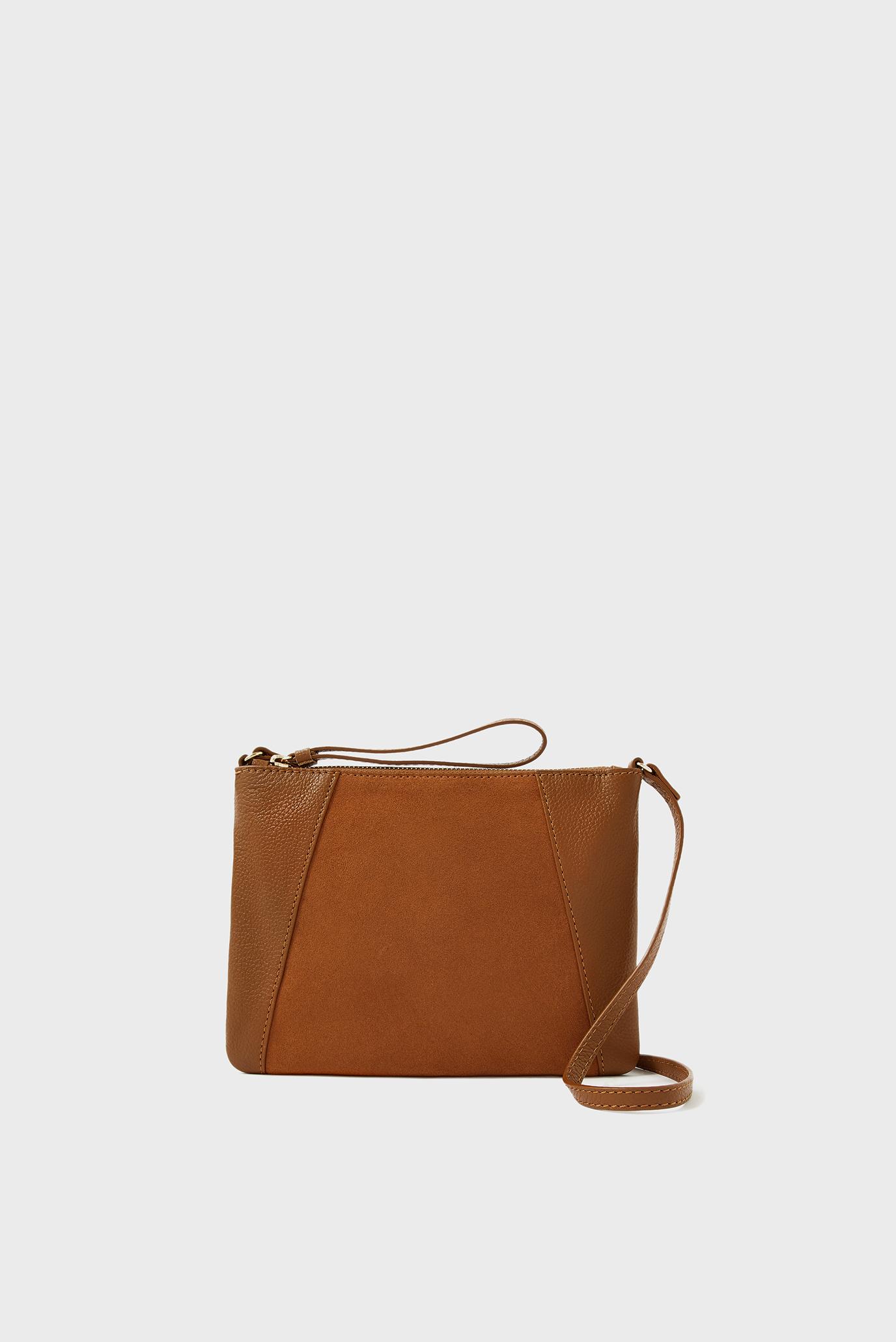 Женская коричневая кожаная сумка SophieXBody 1