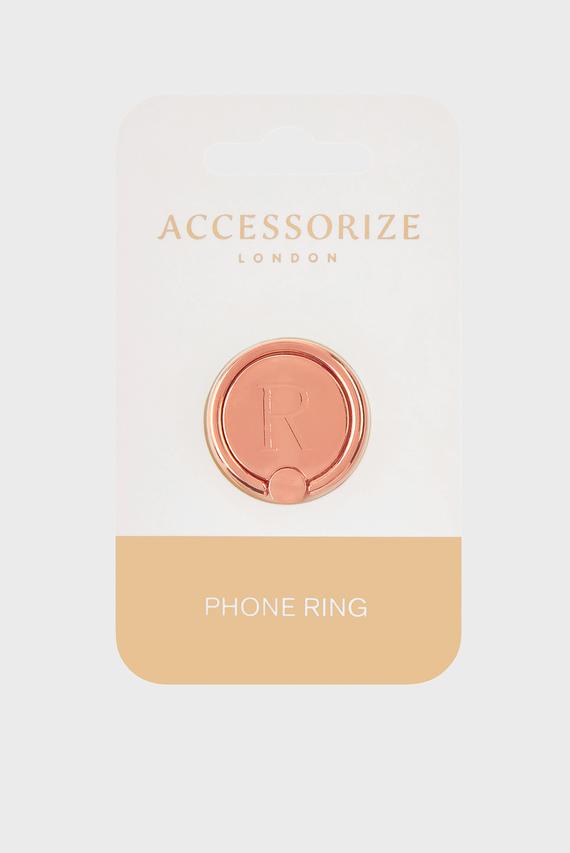 Золотистое кольцо для телефона Initial Phone Ring R