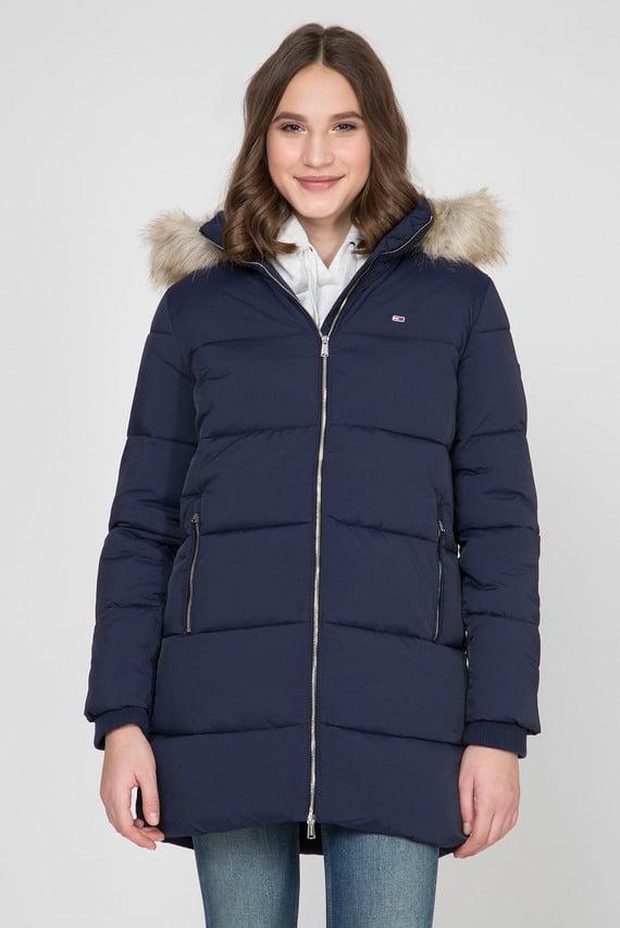 Женская темно-синяя удлиненная куртка TJW MODERN