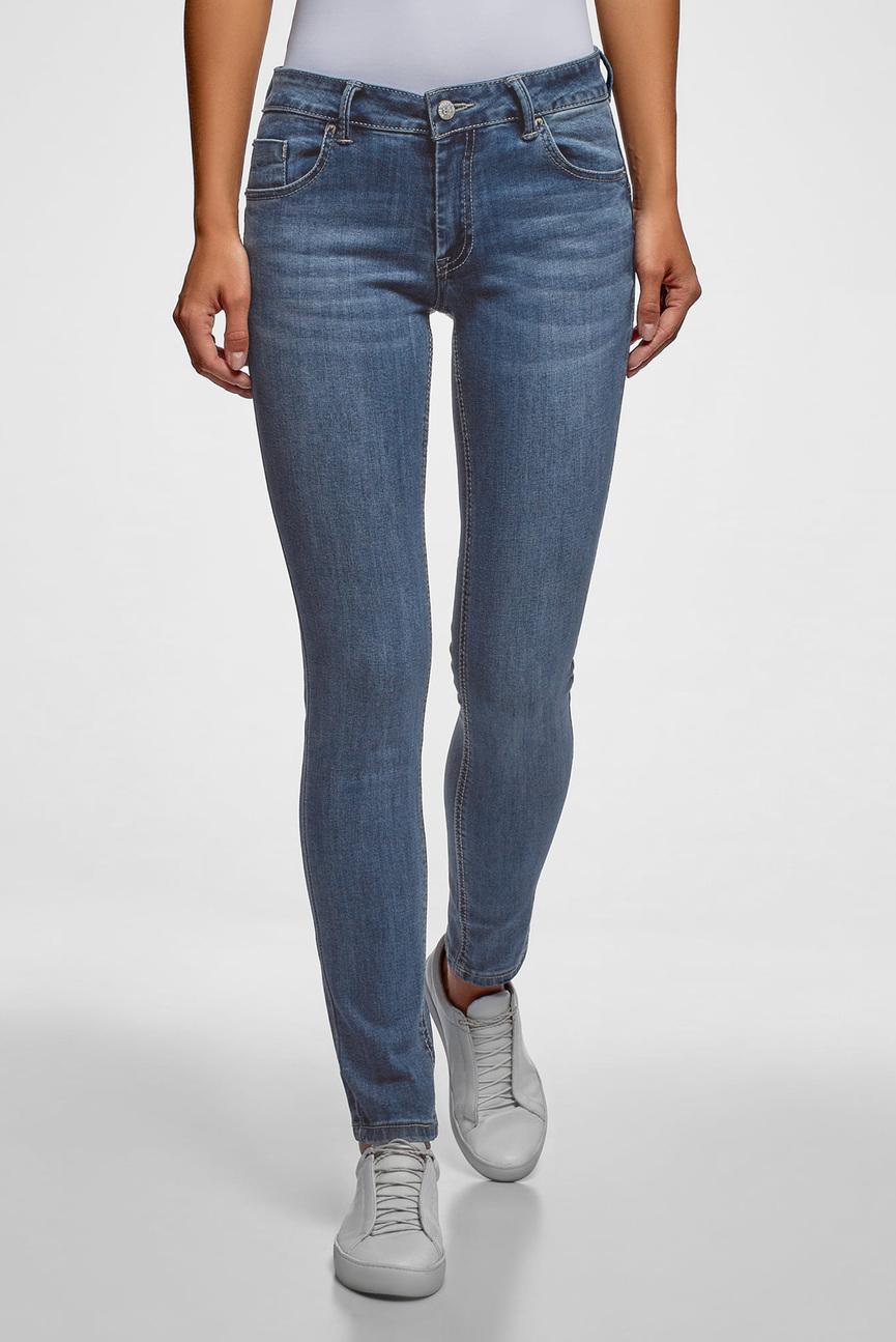 Женские синие джинсы Push-up