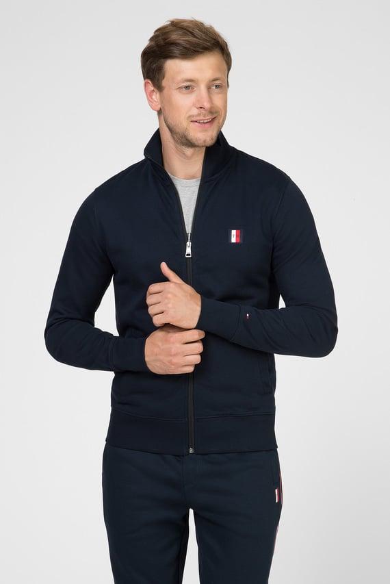 Мужская темно-синяя спортивная кофта TOMMY LOGO ZIP THROUGH