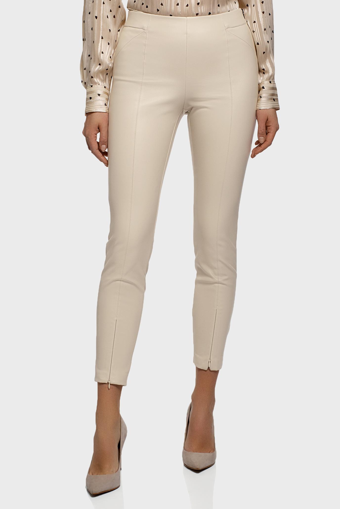 Женские бежевые брюки 1