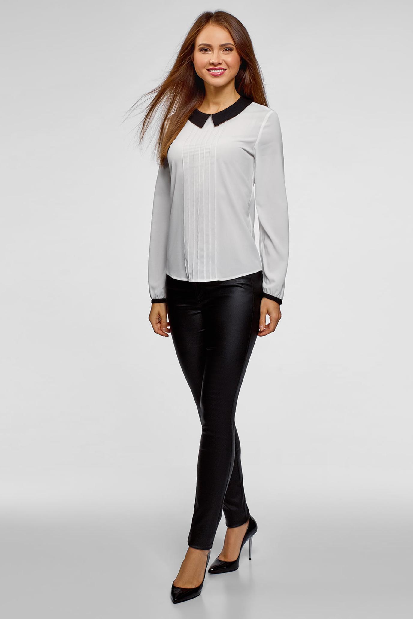 Купить Женская белая блуза Oodji Oodji 11411117-1B/48853/1229B – Киев, Украина. Цены в интернет магазине MD Fashion