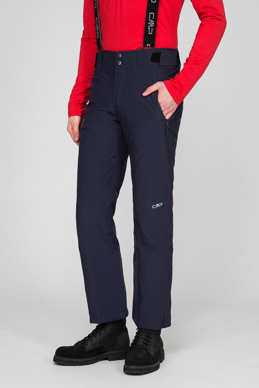 Мужские темно-синие лыжные брюки