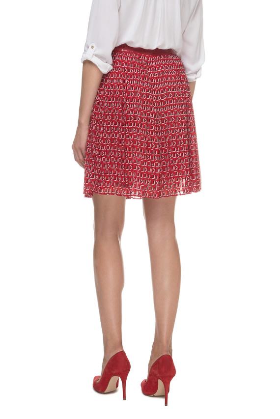 Женская красная плиссированная юбка