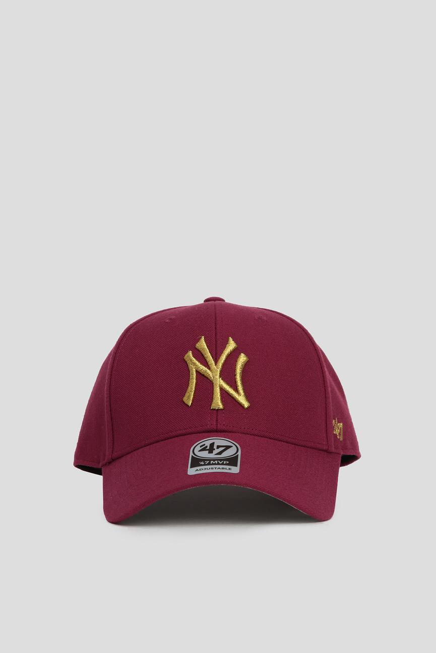 Малиновая кепка SNAPBACK METALLIC  NEW YORK YA