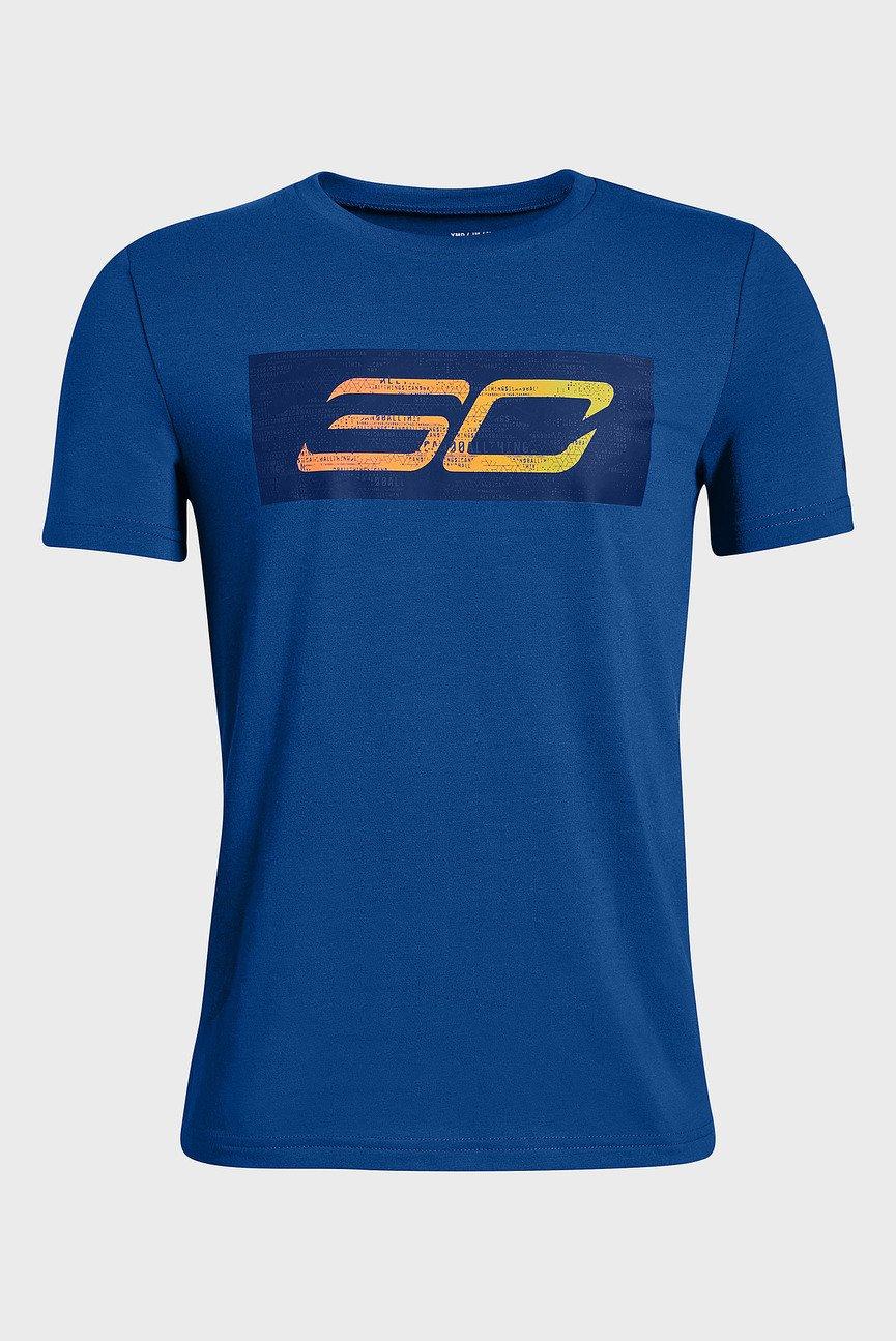 Детская синяя футболка SC30 Logo SS Tee