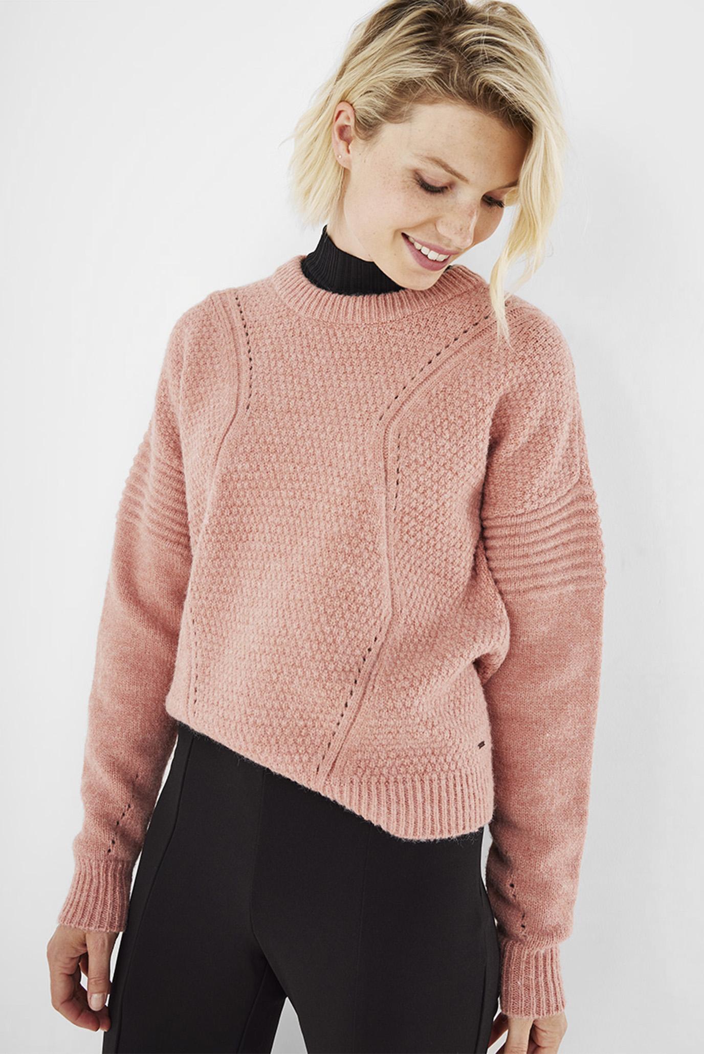 Женский пудровый свитер 1