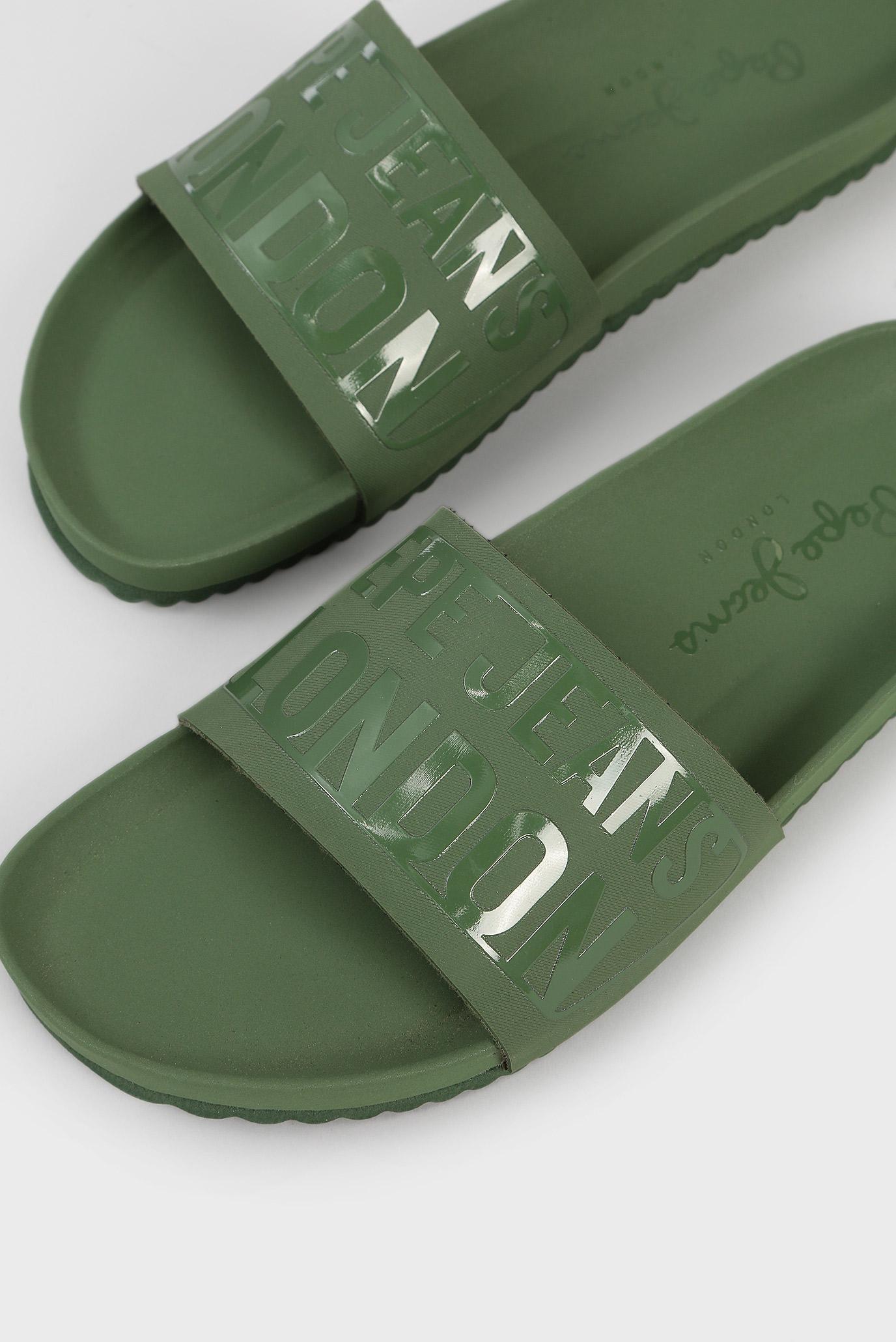 Купить Мужские оливковые слайдеры Pepe Jeans Pepe Jeans PMS90052 – Киев, Украина. Цены в интернет магазине MD Fashion
