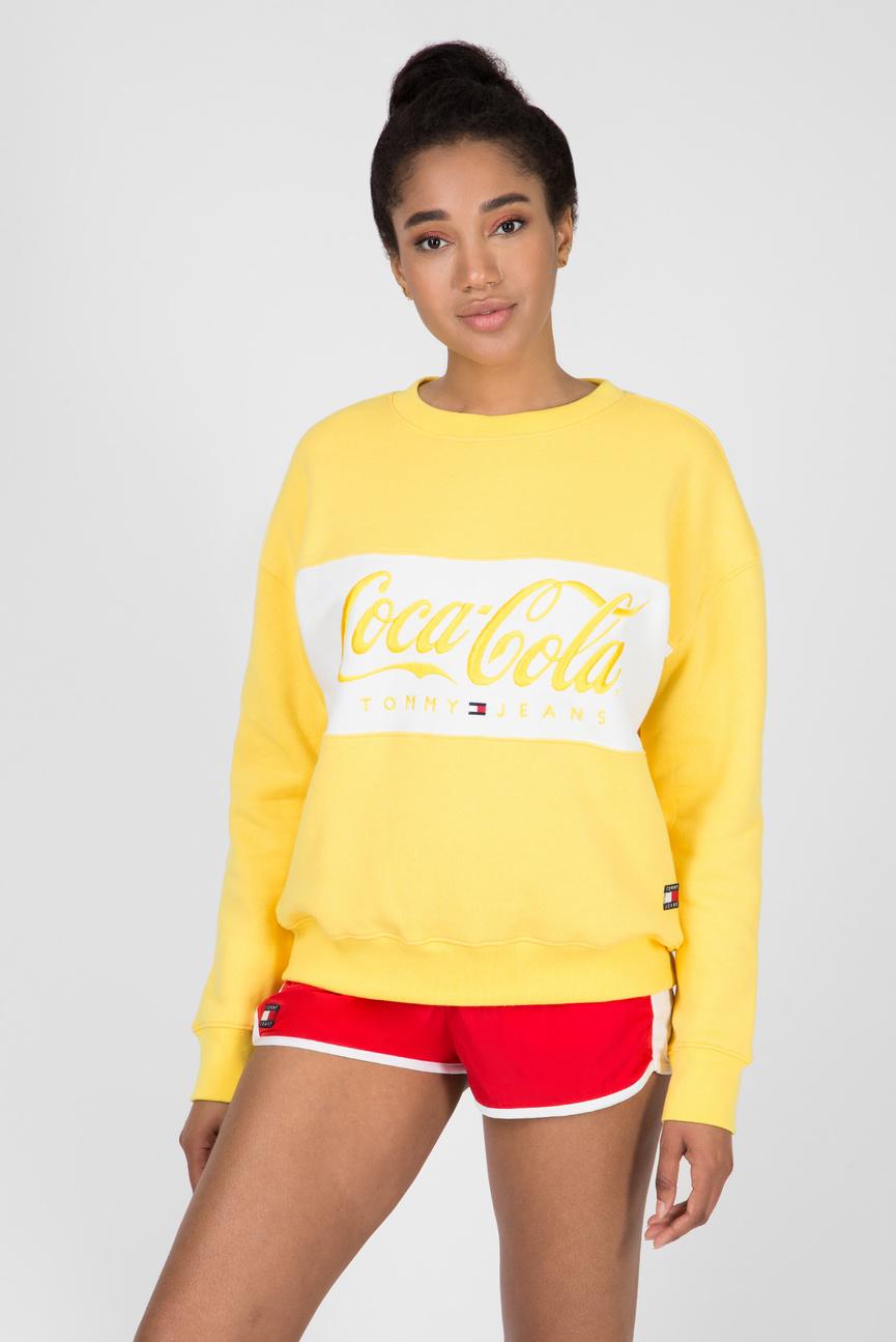 Женский желтый свитшот TJW TOMMY X COCA COLA