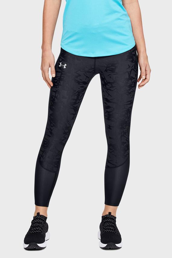 Женские черные тайтсы UA Qualifier Speedpocket Smudged Crop