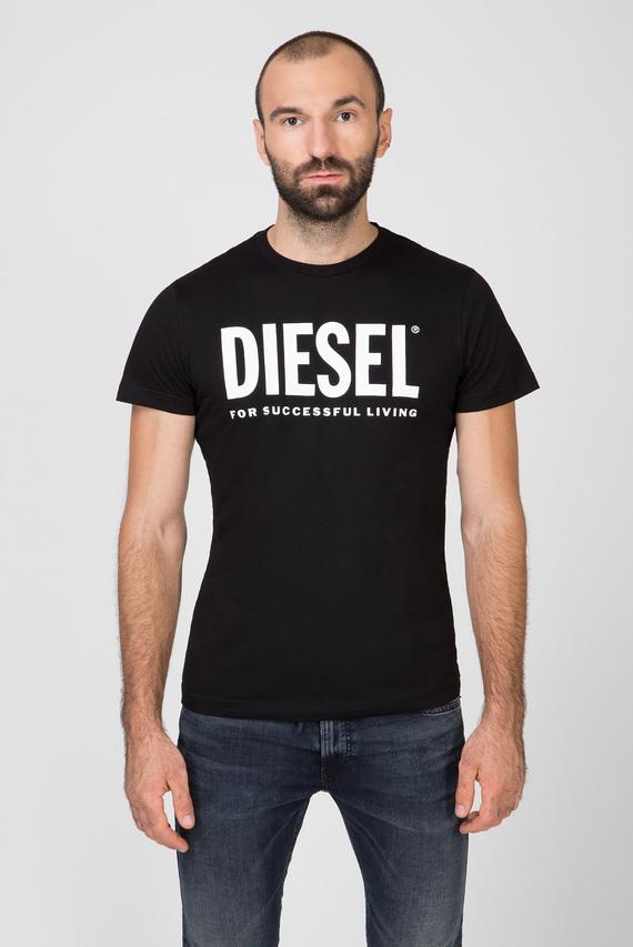 Мужская черная футболка с принтом T-DIEGO-LOGO MAGLIETTA