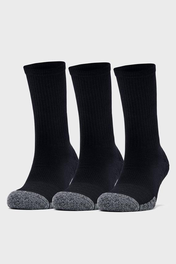 Черные спортивные носки ( 3 пары) UA Heatgear Crew
