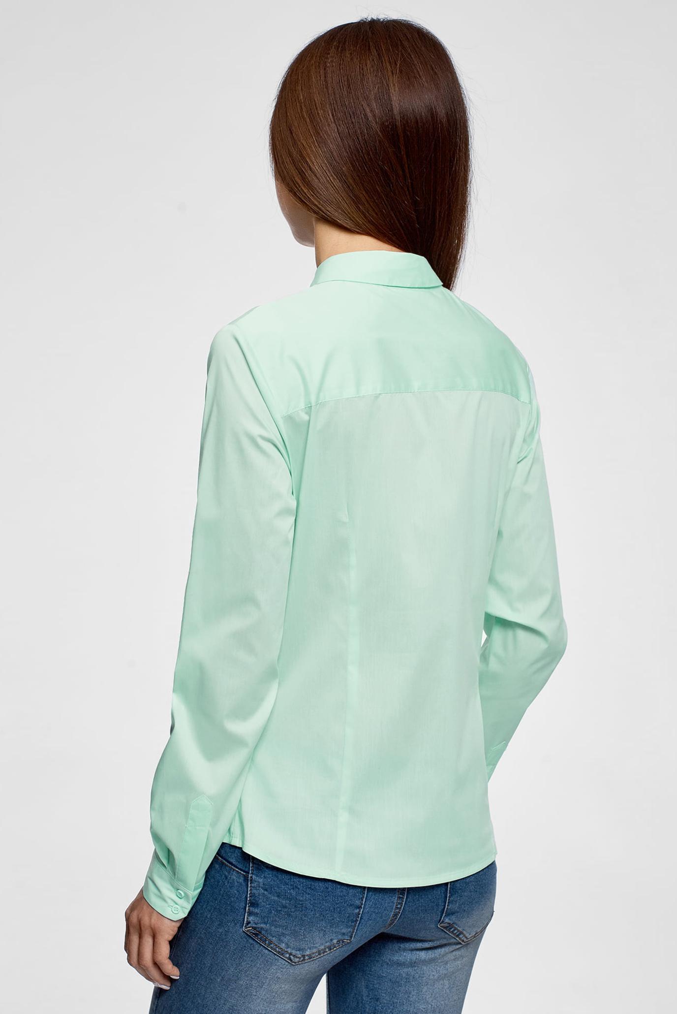 Купить Женская бирюзовая рубашка Oodji Oodji 13K03003B/42083/7301N – Киев, Украина. Цены в интернет магазине MD Fashion