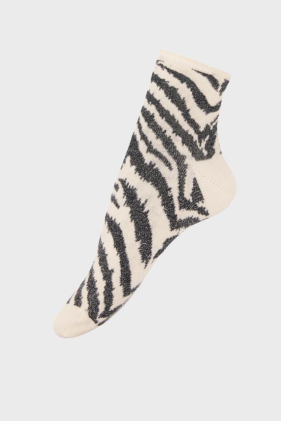 Женские черные носки DEBORAH ZEBRA SPARKLE