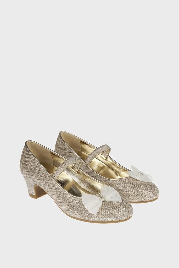 Детские золотистые туфли BOW FLAMENCO