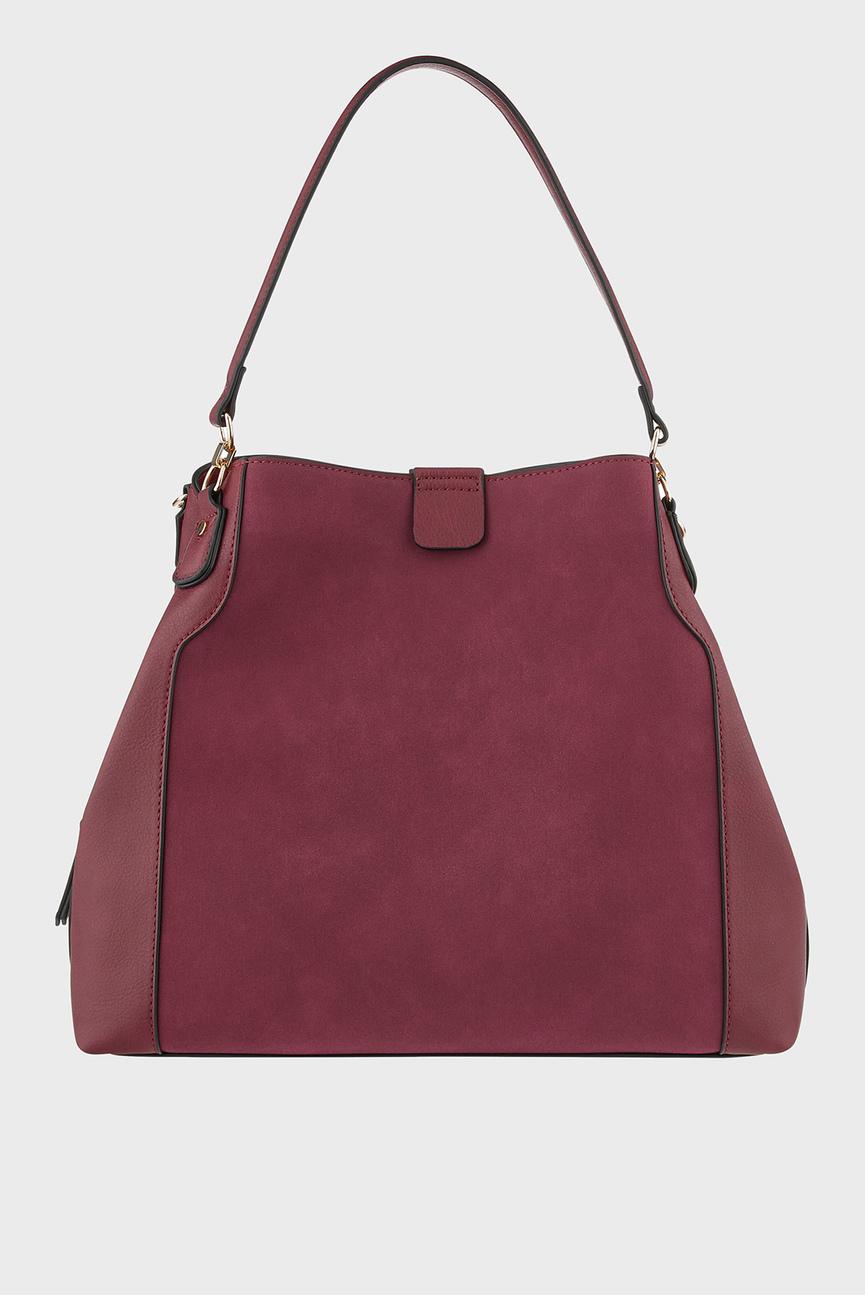 Женская бордовая сумка на плечо HARPER SHOULDER