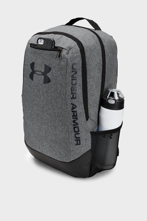 Мужской серый рюкзак UA Hustle Backpack LDWR
