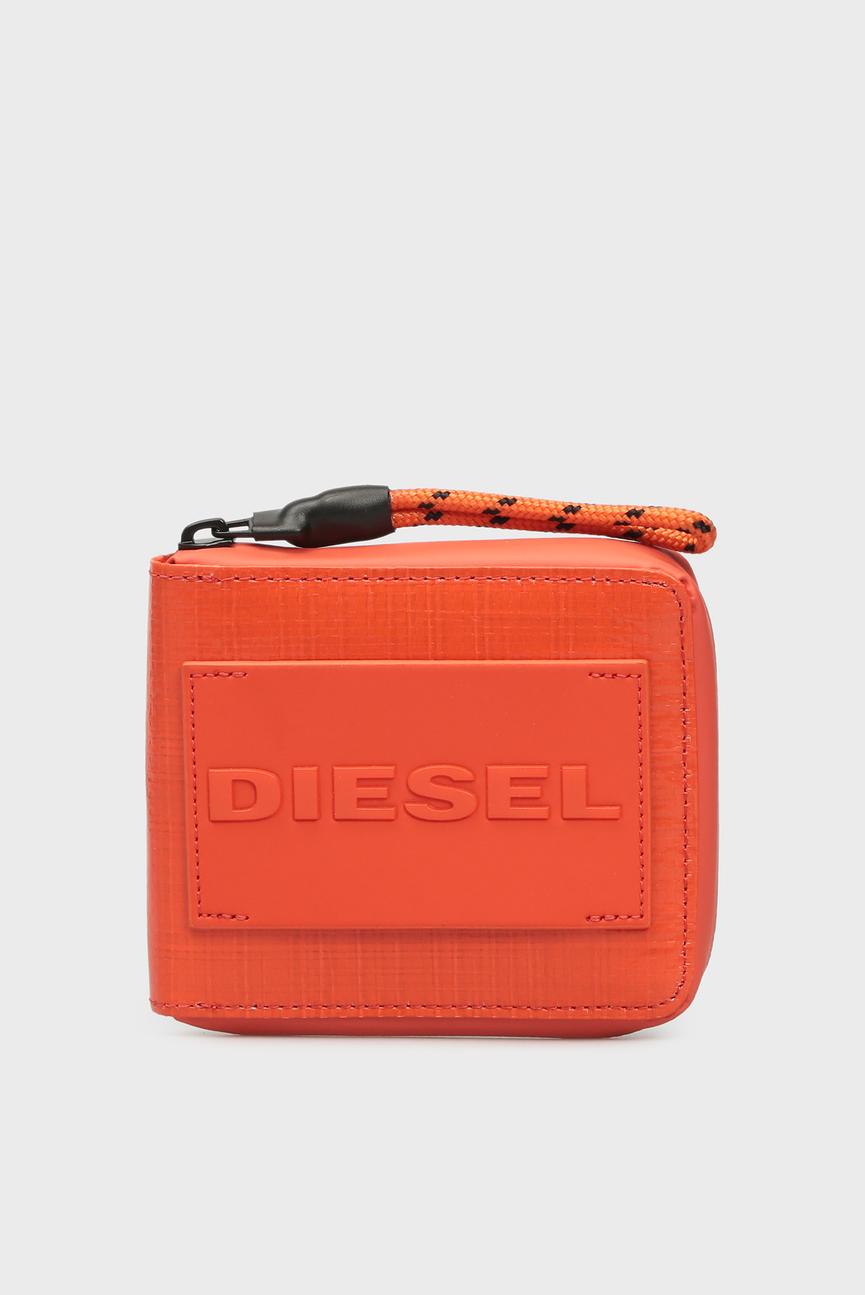 Мужской оранжевый кошелек