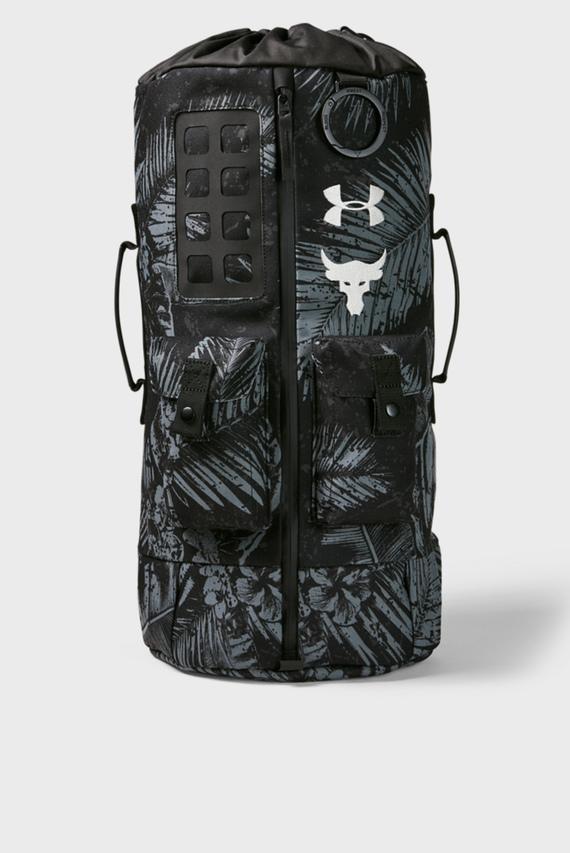 Мужской черный рюкзак UA Project Rock 60 Gym Bag-BLK