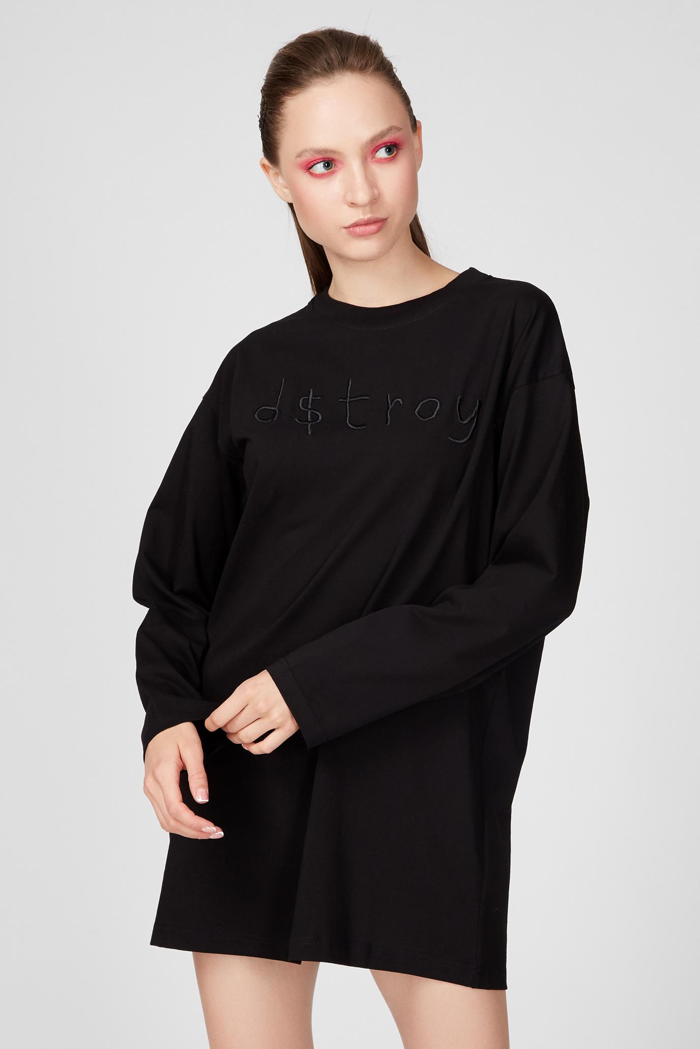 Женское черное платье T-MIST 1
