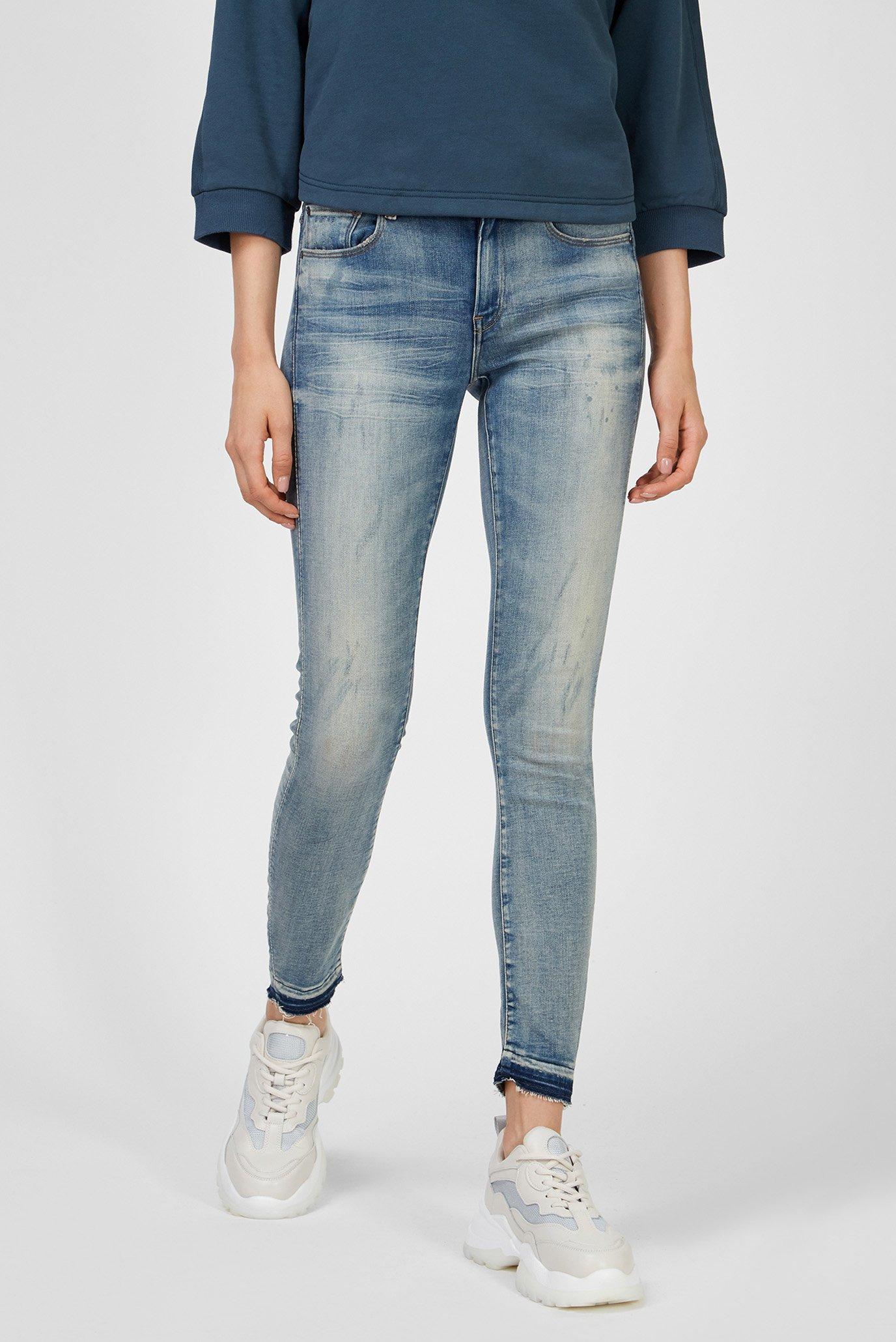 Женские голубые джинсы 3301 Mid Skinny 1