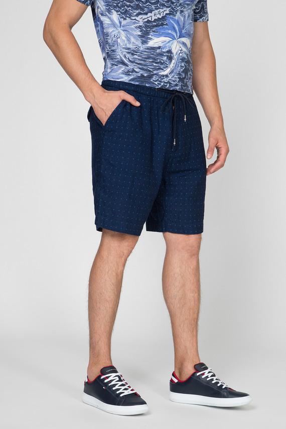 Мужские темно-синие шорты ACTIVE PLEATED SHORT INDIGO DOT