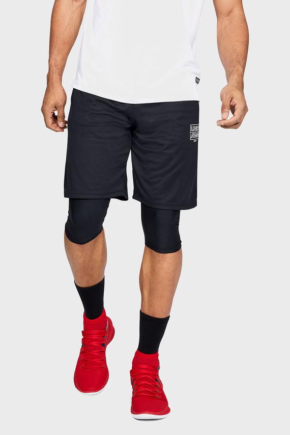 Мужские черные шорты UA BASELINE PRACTICE SHORT-BLK